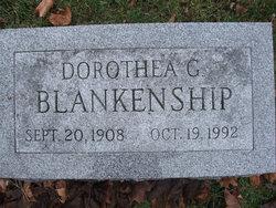 """Dorothea Gladys """"Dot"""" <I>Uber</I> Blankenship"""