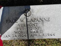 Pvt Paul Wilbur Lapanne