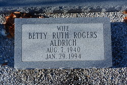 Betty Ruth <I>Rogers</I> Aldrich