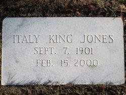 Italy <I>King</I> Jones