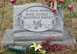 Katie Lucille <I>Mansfield</I> Barnes