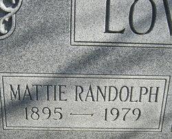 Mattie <I>Randolph</I> Lovell