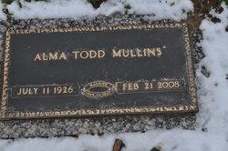 Alma Elizabeth <I>Todd</I> Mullins