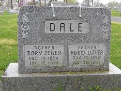 Mary E <I>Zeger</I> Dale