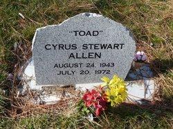 """Cyrus Stewart """"Toad"""" Allen"""