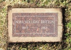 Nora <I>Holliday</I> Britton