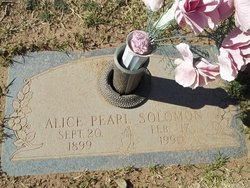 Alice Pearl <I>Auvenshine</I> Solomon