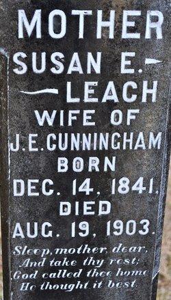 Susan E <I>Leach</I> Cunningham