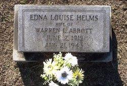 Edna Louise <I>Helms</I> Abbott