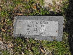 Betty Sue <I>Wright</I> Holtzclaw