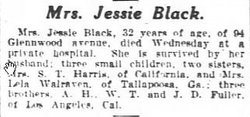 Jessie Maud <I>Fuller</I> Black