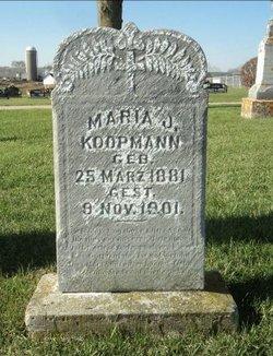 Maria Mary Josephine <I>Deppe</I> Koopmann