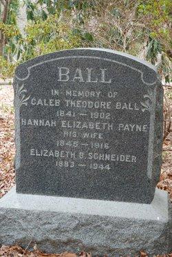 Hannah Elizabeth <I>Payne</I> Ball