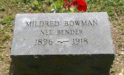 Mildred A <I>Bender</I> Bowman