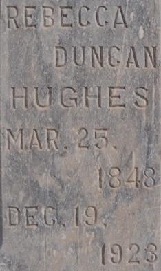 Rebecca <I>Duncan</I> Hughes