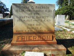 Martha Mahala Mary Jane <I>Barnett</I> Frierson