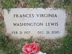 Frances Virginia <I>Washington</I> Lewis