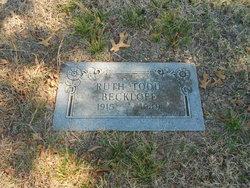 Ruth Leona <I>Todd</I> Beckloff