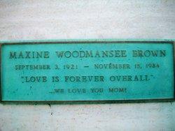 Maxine Woodmansee <I>Woodmansee</I> Brown