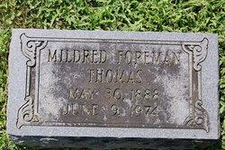 Mildred <I>Foreman</I> Thomas