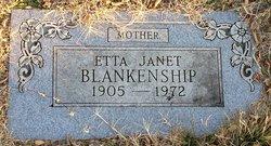 Etta Janet <I>Luckey</I> Blankenship
