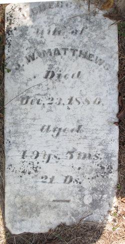 Rebecca A. <I>Smith</I> Matthews