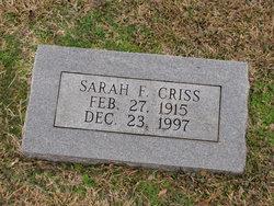 Sarah F Criss
