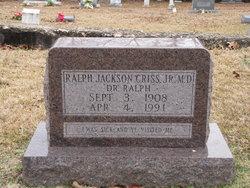 Dr Ralph Jackson Criss, Jr