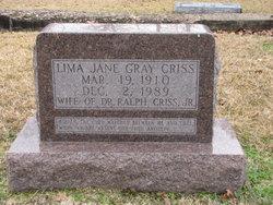 Lima Jane <I>Gray</I> Criss
