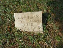Mrs Mary <I>Fox</I> Campbell