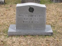 Anne Elizabeth Criss