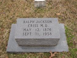 Dr Ralph Jackson Criss
