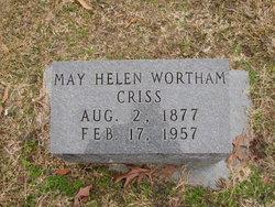 May Helen <I>Wortham</I> Criss