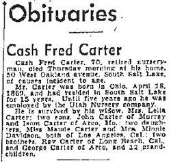 Cash Fred Carter