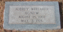 Aubrey <I>Whitaker</I> Agnew