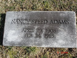 Nancy <I>Speed</I> Adams
