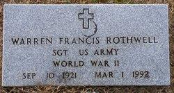 SGT Warren Francis Rothwell