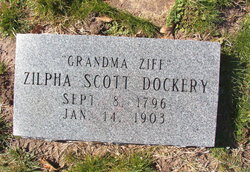 "Zilpha Etta ""Grandma Ziff"" <I>Scott</I> Dockery"