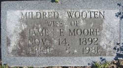 Mildred Olive <I>Wooten</I> Moore