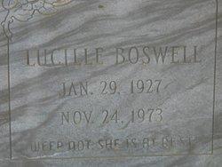 Lucille <I>DeRossett</I> Boswell