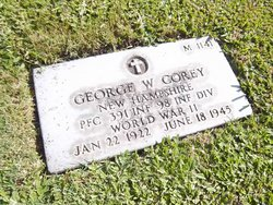 PFC George W Corey