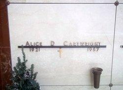 "Alice Dean ""Allie"" <I>Howell</I> Cartwright"