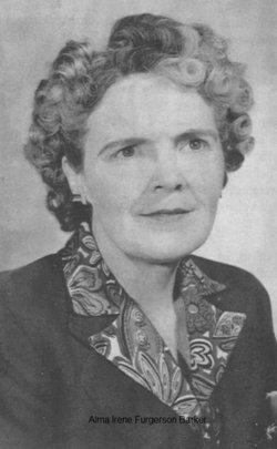 Mrs Alma Irene <I>Ferguson</I> Barker