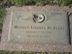 Mildred <I>Lindahl</I> McMeans