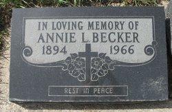 "Annie L ""Nora"" <I>Miller</I> Becker"