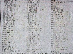 Private James William Kniveton