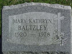 Mary Kathryn <I>Wisler</I> Baltzley