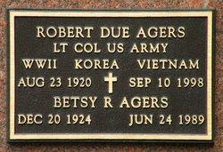 """Elizabeth Ann """"Betsy"""" <I>Reid</I> Agers"""
