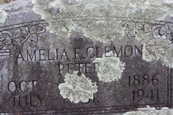 Amelia Emma <I>Clemmons</I> Peters