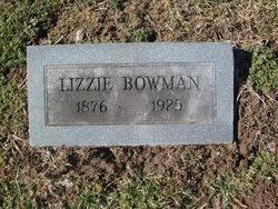 """Katherine E. """"Lizzie"""" <I>Hall</I> Bowman"""